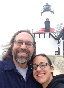 At the Michigan City Lighthouse, May 2016